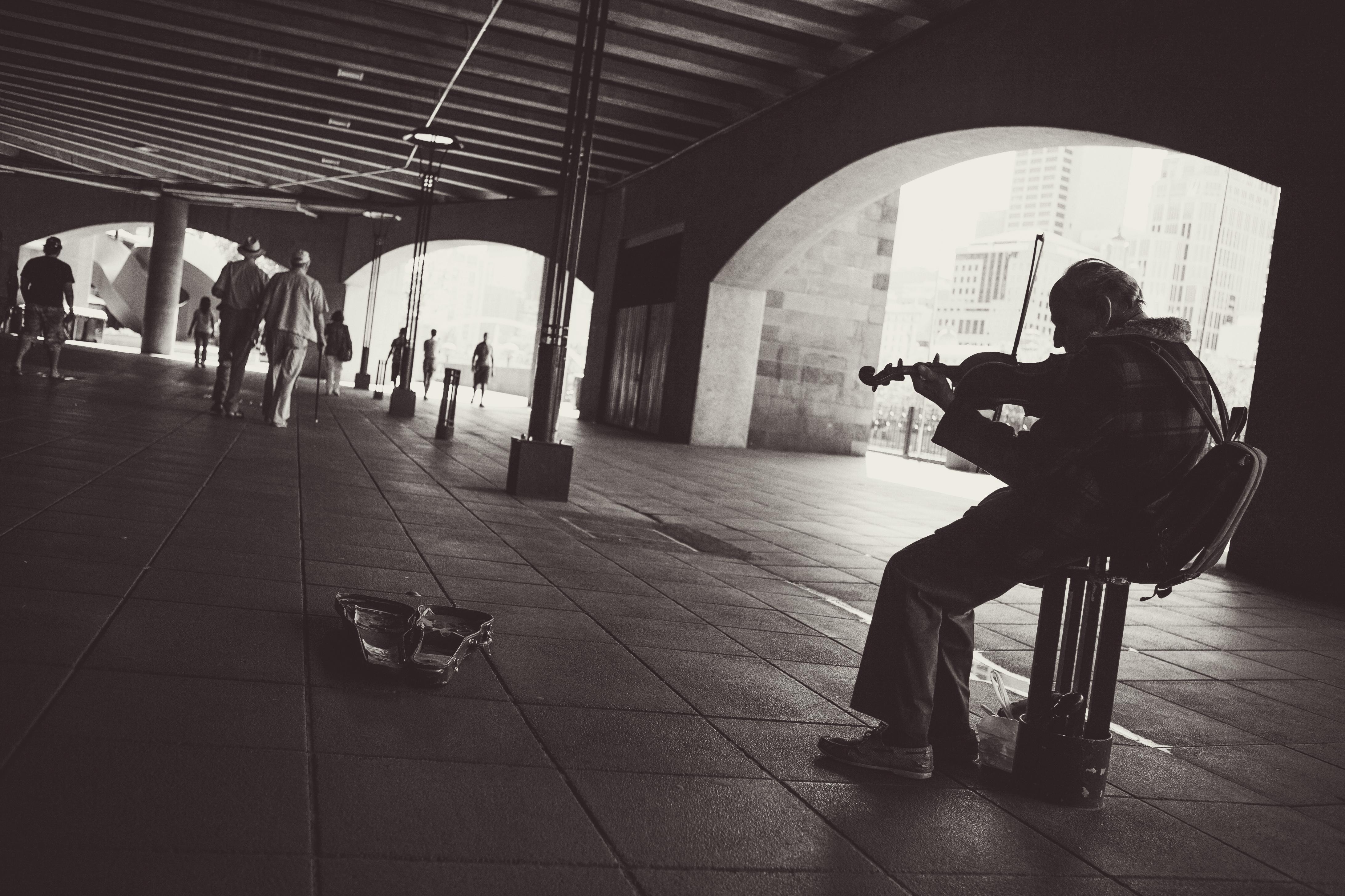 Busking Violinist